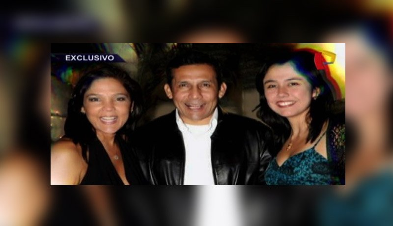 Nadine Heredia con Ollanta Humala y Maria Elena Llanos