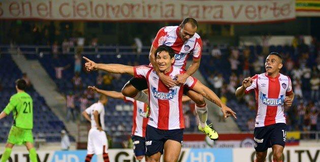 Roberto Ovelar (ex Alianza Lima y Juan Aurich de Chiclayo) marcó el tercer tanto de los barranquilleros.