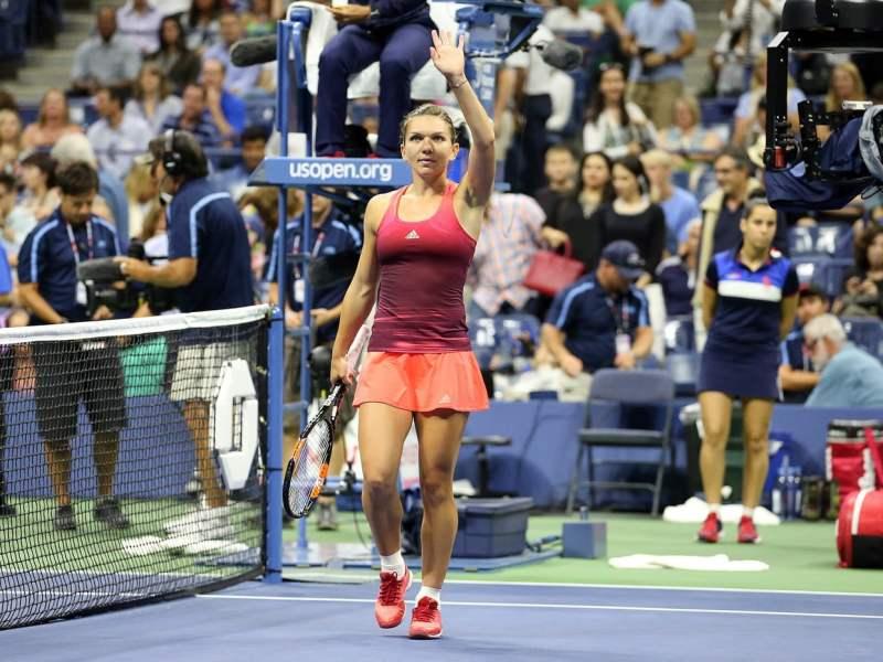 Halep celebró otra victoria en el US Open.