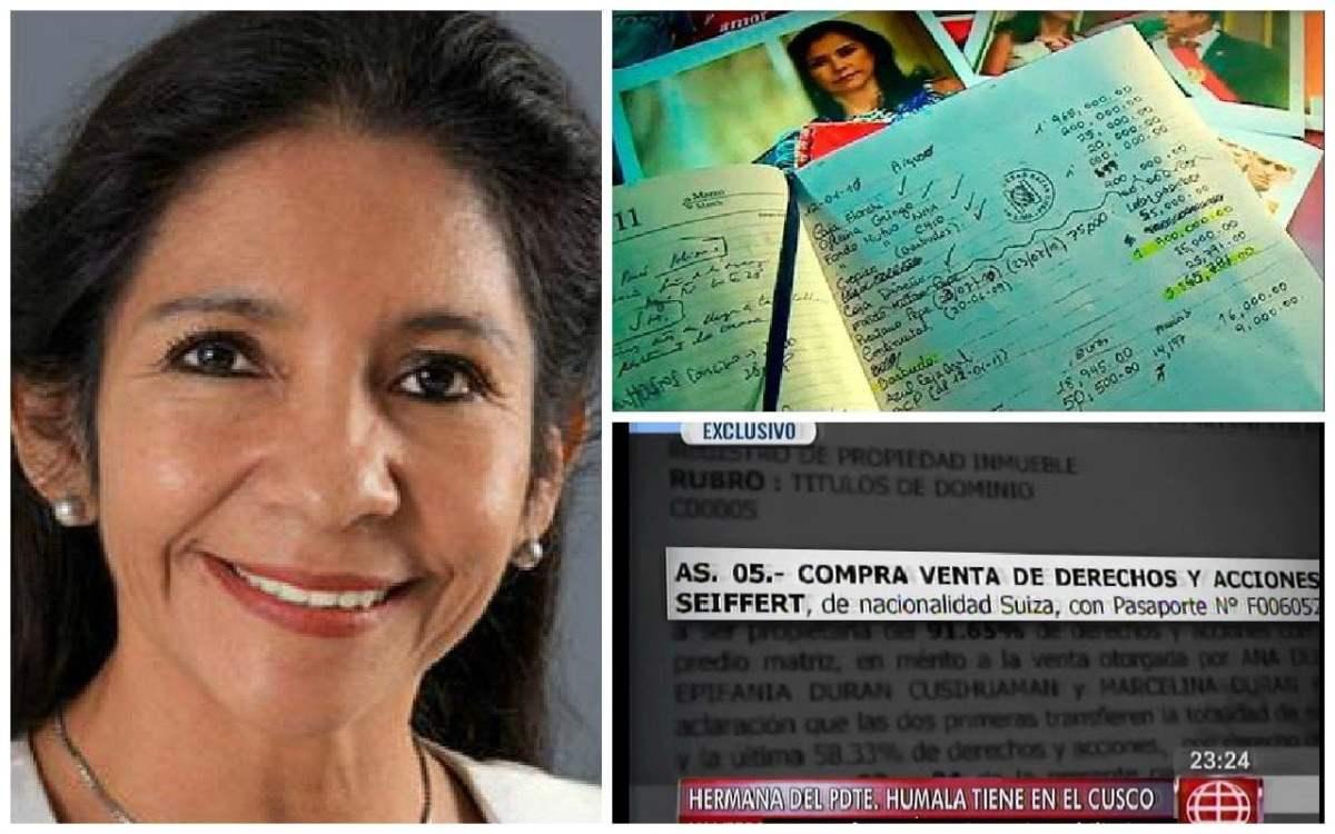 María Ivoska Seiffert-Humala. hermana de Ollanta Humala