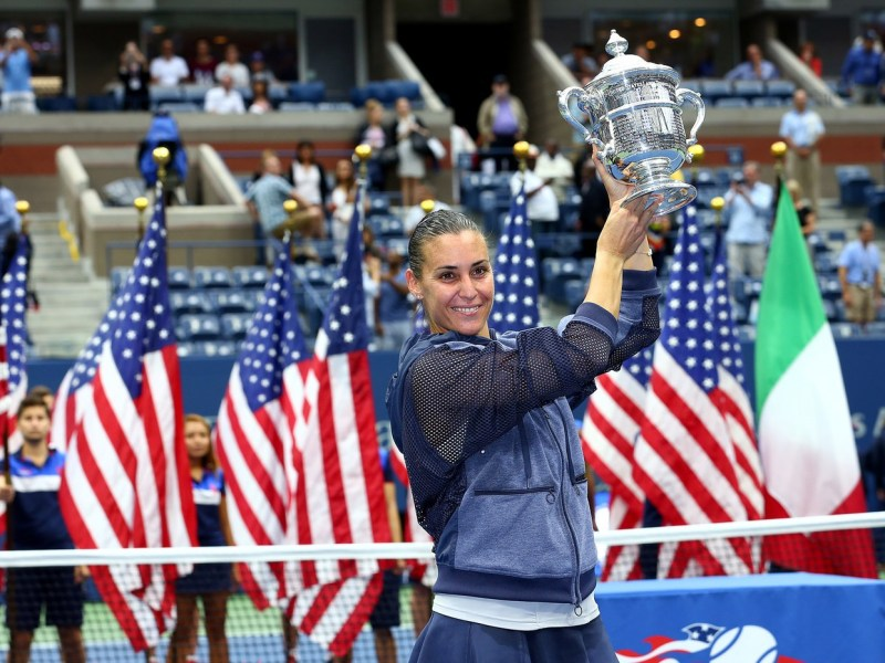 Flavia Pennetta le dio a Italia otro Grand Slam en la historia del tenis.