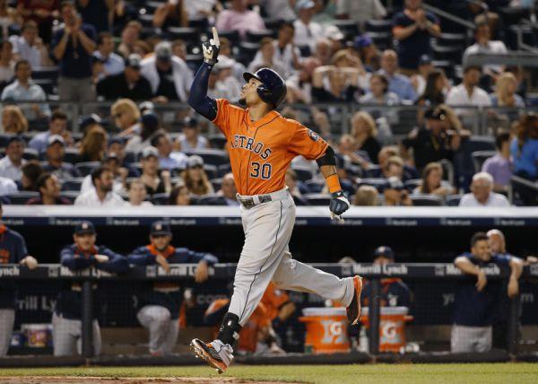 El dominicano Gómez fue uno de los gestores del triunfo de los Astros sobre los Yankees tras conectar uno de los dos jonrones.