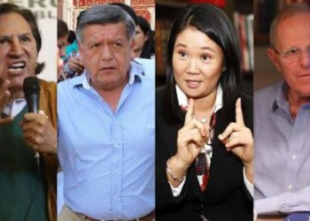 Keiko Fujimori, Pedro Pablo Kuczynski, Alan García, Ipsos
