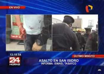 Delincuentes asaltan y disparan a empresario en San Isidro (Video)