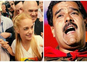 Nicolás Maduro y Lilian Tintori esposa de Leopoldo López