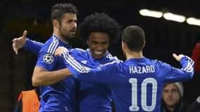 Chelsea celebró el primer lugar en su grupo de Champions.
