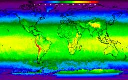 El temible mapa de la radiación UV