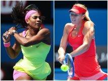 Serena Williams y Sharapova jugarán una final adelantada en Melbourne.