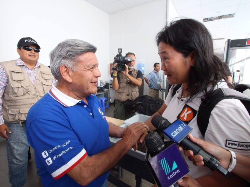 Keiko Fujimori y César Acuña