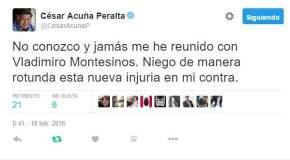 Tuit de César Acuña