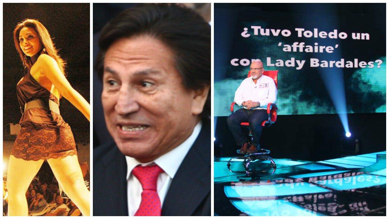 Lady Bardales, Alejandro Toledo y Carlos Bruce