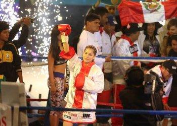 Linda Lecca pasó de tener la condición de campeona mundial supermosca interina a ABSOLUTA.