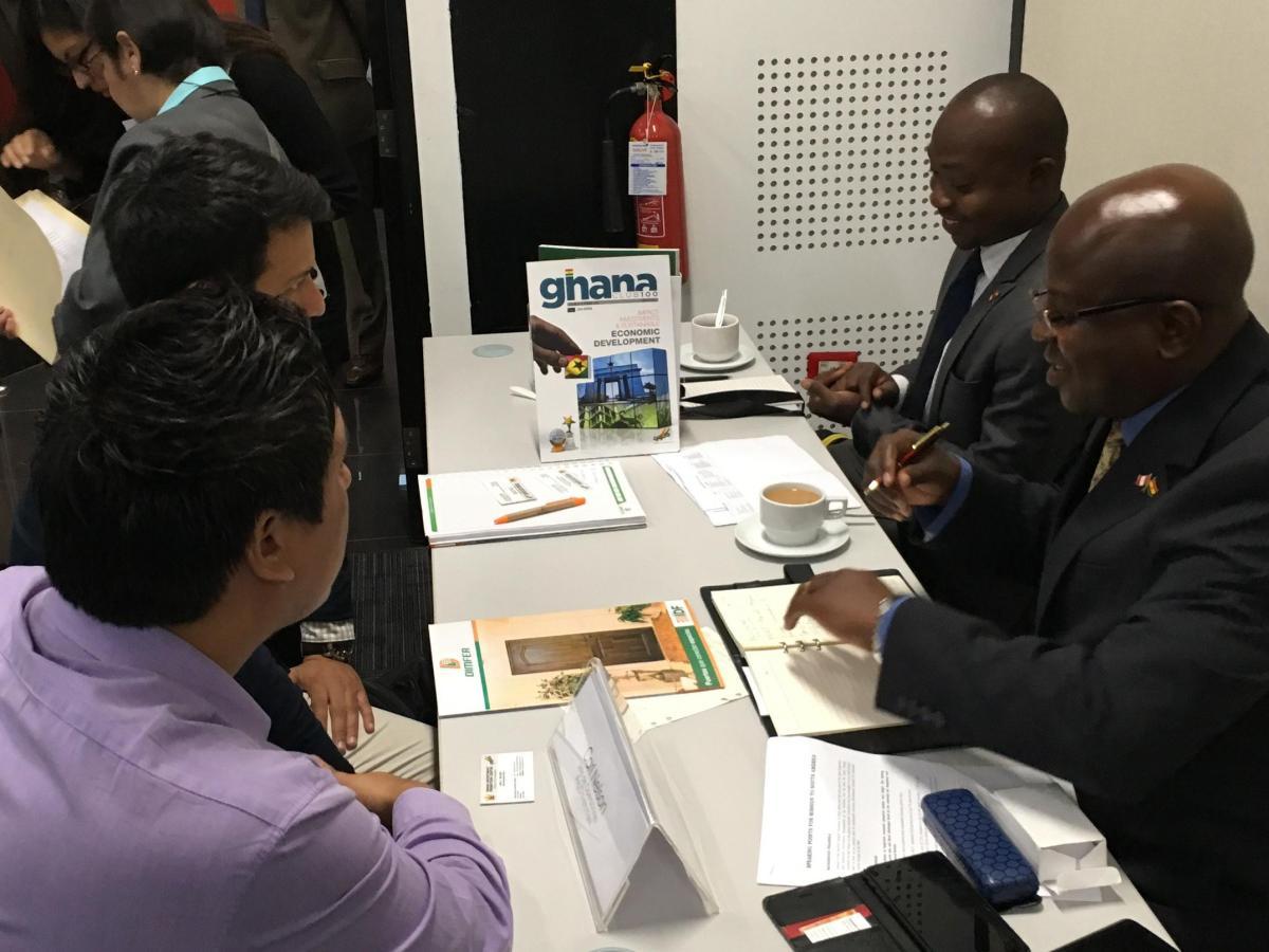 La visita proyectó una rueda de negocios entre empresarios peruanos y ghaneses, en donde se generaron 40 citas comerciales.