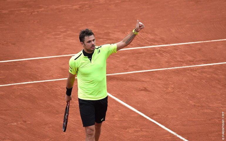 El campeón defensor Wawrinka sigue en carrera con el objetivo de retener el título.