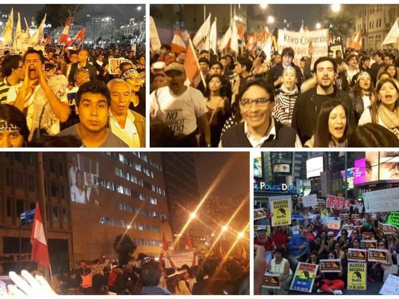 Marcha contra Keiko Fujimori en vivo en rechazo a su candidatura