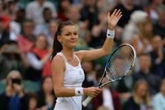 Radwanska celebró por primera vez en Wimbledon 2016.