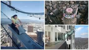Conoce el tobogán de cristal a 300 metros de altura [VIDEO]