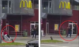 Video muestra disparando a asesino en McDonald's de Alemania