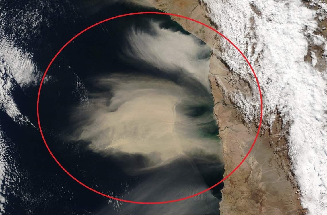 Tormenta de Arena en Chile y cerca a Perú