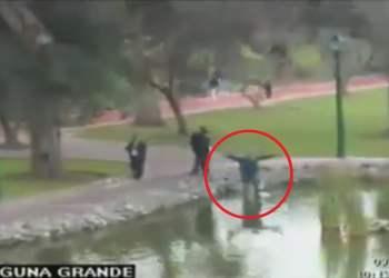 Joven caminaba cerca a laguna El Olivar en San Isidro y sufre incidente por popular juego del Pokémon Go