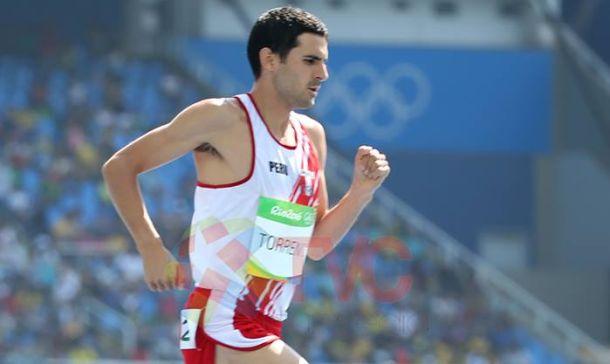 Torrence no  pudo cumplir una buena performance en la final de los 5 mil metros.