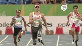 Casas no logró cumplir una buena performance en los 200 metros Paraolímpicos.