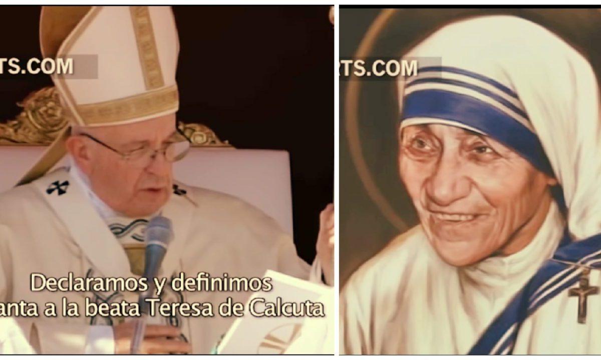 Madre Teresa de Calcuta proclamada santa por el Papa Francisco
