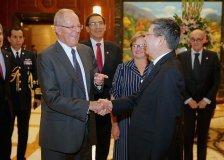 El presidente del Perú visitó al alcalde de Shanghái.