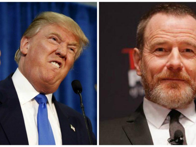 Donald Trump y Bryan Cranston