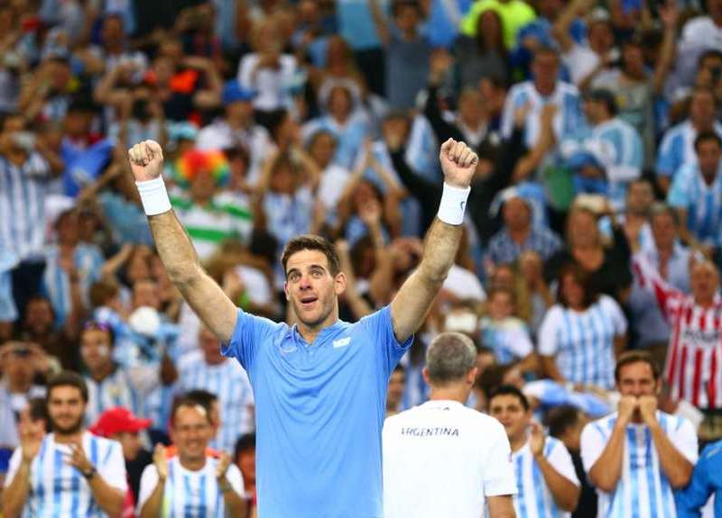 Del Potro vino de atrás y venció a Cilic para empatar la final entre Argentina y Croacia
