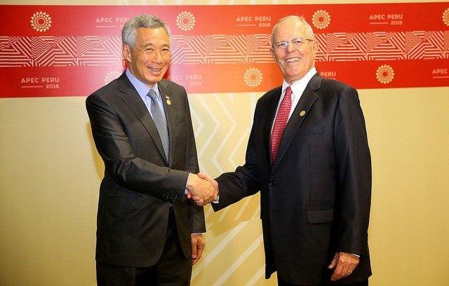 El presidente Kuczynski y el premier de Singapur abordaron el tema de una doble tributación para tener potestad sobre la misma renta.