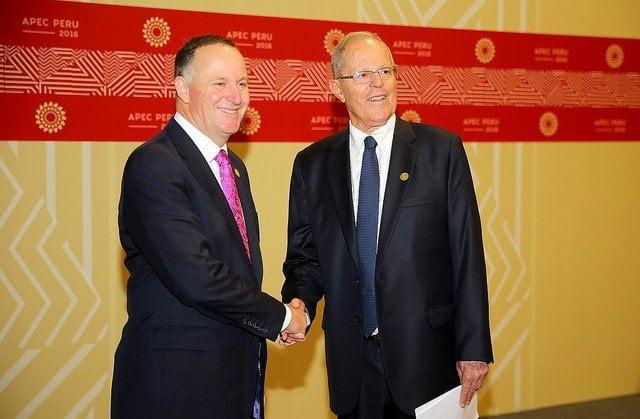 El presidente Kuczynski sostuvo encuentro bilateral con  el primer ministro de Nueva Zelanda, John Key.