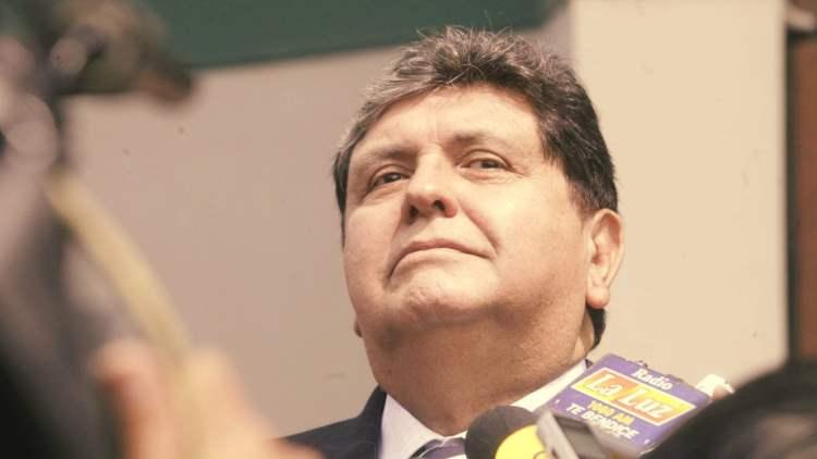 Alan García no quiere que el Congreso lo investigue