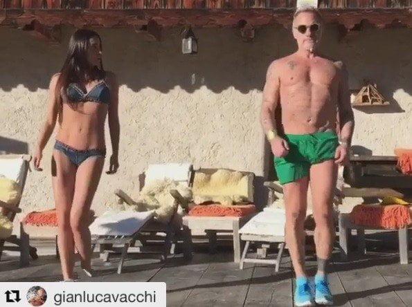 Gianluca Vacchi regresó a las redes sociales con una nueva coreografía.