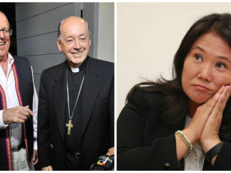PPK, el Cardenal Juan Luis Cipriani y Keiko Fujimori