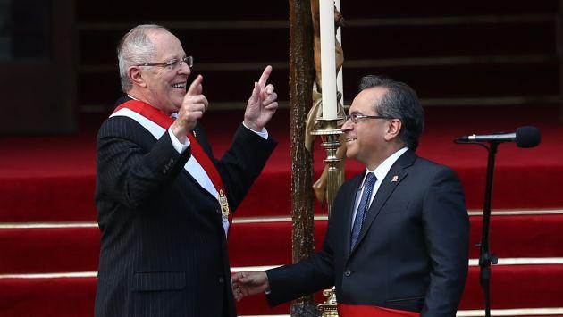 El presidente Kuczynski respaldo al ministro de Educación, Jaime Saavedra.
