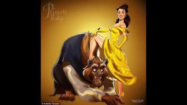 Las princesas de Disney, en su lado más sensual