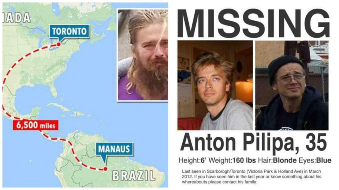 Desapareció en Toronto hace cinco años y fue encontrado caminando sin rumbo en el Amazonas