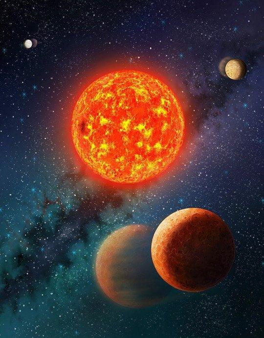 Otro planeta similar a Marte. Un exoplaneta