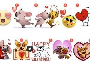 San Valentín: los 10 stickers más populares en Facebook