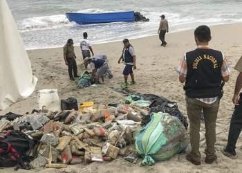Lancha varada en Punta Hermosa traía droga.