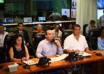 El premier Zavala detalló junto a algunos ministros a situación que vive el Peru a consecuencia de los huaicos, lluvias e inundaciones.