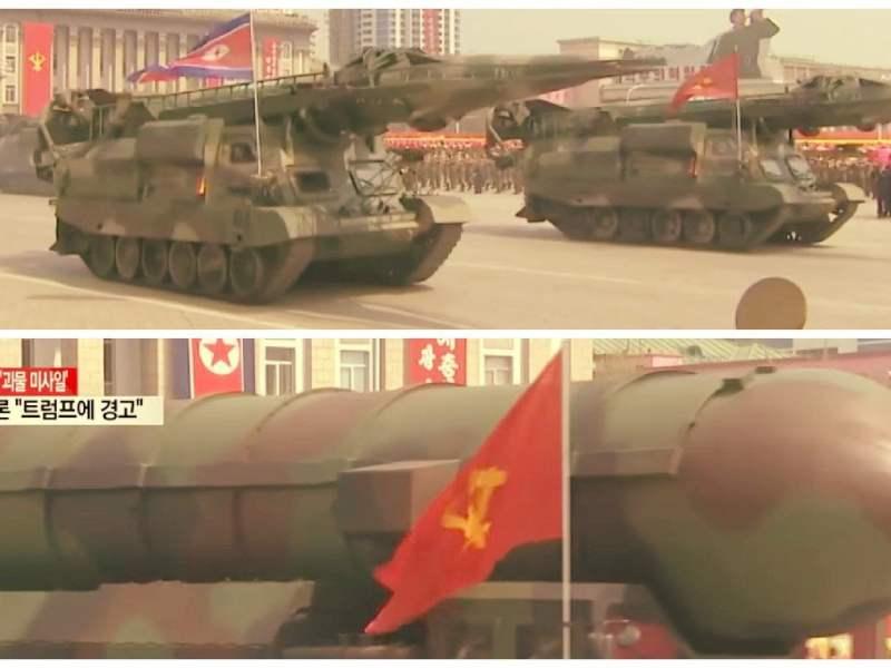 Corea del Norte exhibió sus armas y advirtió a EE.UU. sobre una posible guerra