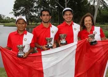 Los golfistas Julián Perico, Huber Nieto y Santiago Zubieta le dieron el título sudamericano juvenil al Perú.