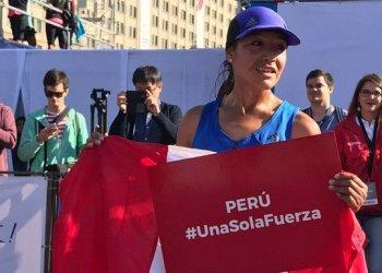 La peruana Inés Melchor dedicó el triunfo a todos los peruanos damnificados por los desastres naturales.
