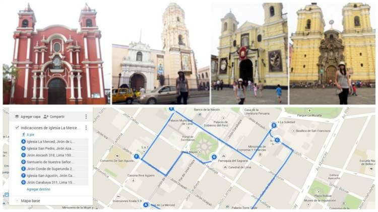 Con la aplicación de mapas de Google se pueden armar diversas rutas para visitar los templos en este Jueves Santo.