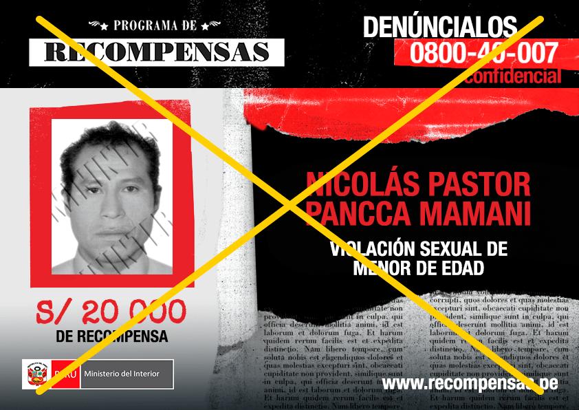 Nicolás Pastor Pancca Mamani (46), requisitoriado por el delito de violación sexual de menor de edad.