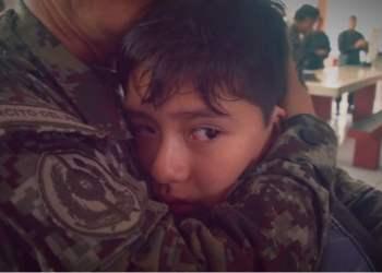 Emotivo encuentro fue propiciado por el ministro de Defensa con motivo del Día del Padre