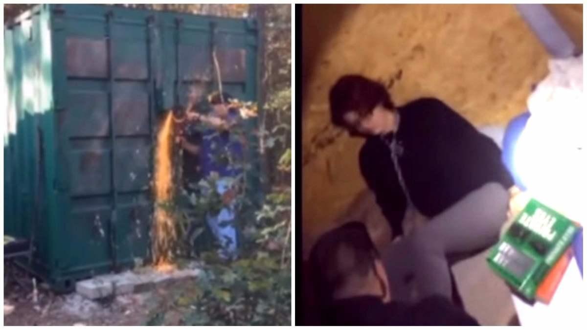 El escalofriante momento en el que liberan a una esclava sexual atrapada en un container