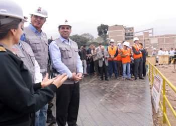 El premier Fernando Zavala y el titular del MININTER, Carlos Basombrío, supervisaron las obras de lo que será el nuevo y moderno Hospital de la PNP.